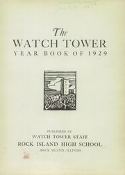 Page 5, 1929 Edition, Rock Island High School - Watchtower Yearbook (Rock Island, IL) online yearbook collection