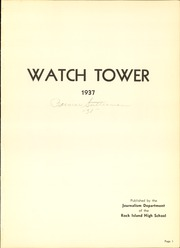 Page 5, 1937 Edition, Rock Island High School - Watchtower Yearbook (Rock Island, IL) online yearbook collection
