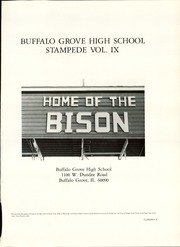 Page 5, 1982 Edition, Buffalo Grove High School - Stampede Yearbook (Buffalo Grove, IL) online yearbook collection