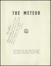 Page 5, 1945 Edition, Harlem High School - Meteor Yearbook (Machesney Park, IL) online yearbook collection