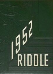 1952 Edition, Mattoon High School - Riddle Yearbook (Mattoon, IL)
