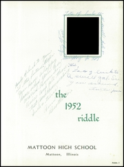 Page 7, 1952 Edition, Mattoon High School - Riddle Yearbook (Mattoon, IL) online yearbook collection