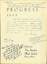 Page 9, 1935 Edition, Von Steuben High School - Progress Yearbook (Chicago, IL) online yearbook collection