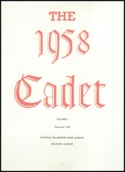Page 7, 1958 Edition, MacArthur High School - Cadet Yearbook (Decatur, IL) online yearbook collection