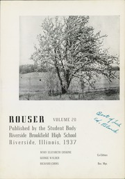 Page 7, 1937 Edition, Riverside Brookfield High School - Rouser Yearbook (Riverside, IL) online yearbook collection
