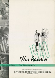 Page 7, 1940 Edition, Riverside Brookfield High School - Rouser Yearbook (Riverside, IL) online yearbook collection