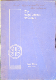 1935 Edition, Saratoga Springs High School - Recorder Yearbook (Saratoga Springs, NY)