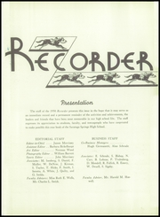 Page 5, 1950 Edition, Saratoga Springs High School - Recorder Yearbook (Saratoga Springs, NY) online yearbook collection