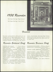 Page 5, 1952 Edition, Saratoga Springs High School - Recorder Yearbook (Saratoga Springs, NY) online yearbook collection
