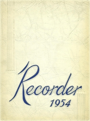 1954 Edition, Saratoga Springs High School - Recorder Yearbook (Saratoga Springs, NY)