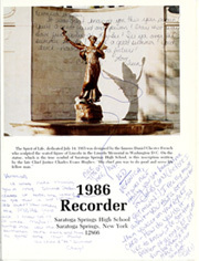 Page 5, 1986 Edition, Saratoga Springs High School - Recorder Yearbook (Saratoga Springs, NY) online yearbook collection