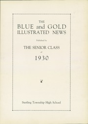 Page 5, 1930 Edition, Sterling High School - Blue and Gold Yearbook (Sterling, IL) online yearbook collection