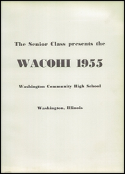 Page 5, 1955 Edition, Washington Community High School - Wacohi Yearbook (Washington, IL) online yearbook collection