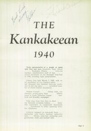 Page 7, 1940 Edition, Kankakee High School - Kankakeean Yearbook (Kankakee, IL) online yearbook collection