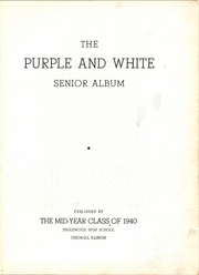 Page 7, 1940 Edition, Englewood High School - Purple and White Yearbook (Chicago, IL) online yearbook collection