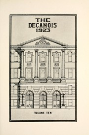 Page 11, 1923 Edition, Decatur High School - Decanois Yearbook (Decatur, IL) online yearbook collection