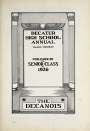 Page 7, 1926 Edition, Decatur High School - Decanois Yearbook (Decatur, IL) online yearbook collection
