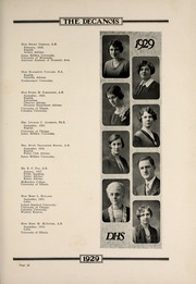 Page 15, 1929 Edition, Decatur High School - Decanois Yearbook (Decatur, IL) online yearbook collection