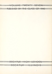 Page 6, 1940 Edition, Decatur High School - Decanois Yearbook (Decatur, IL) online yearbook collection