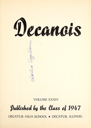 Page 5, 1947 Edition, Decatur High School - Decanois Yearbook (Decatur, IL) online yearbook collection