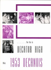 Page 16, 1953 Edition, Decatur High School - Decanois Yearbook (Decatur, IL) online yearbook collection
