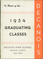 Page 5, 1954 Edition, Decatur High School - Decanois Yearbook (Decatur, IL) online yearbook collection