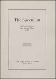 Page 7, 1917 Edition, East Aurora High School - Speculum Yearbook (Aurora, IL) online yearbook collection