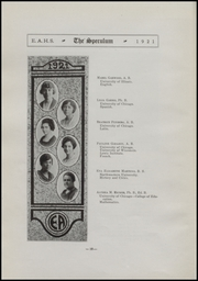 Page 14, 1921 Edition, East Aurora High School - Speculum Yearbook (Aurora, IL) online yearbook collection
