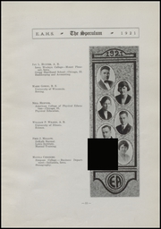 Page 15, 1921 Edition, East Aurora High School - Speculum Yearbook (Aurora, IL) online yearbook collection