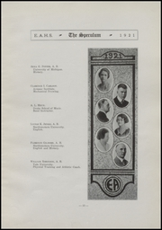 Page 17, 1921 Edition, East Aurora High School - Speculum Yearbook (Aurora, IL) online yearbook collection