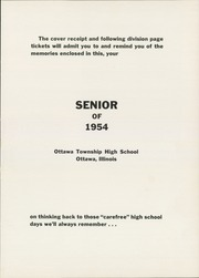 Page 5, 1954 Edition, Ottawa Township High School - Senior Yearbook (Ottawa, IL) online yearbook collection