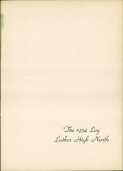 Page 5, 1954 Edition, Luther North High School - Log Yearbook (Chicago, IL) online yearbook collection
