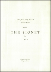Page 5, 1947 Edition, Effingham High School - Signet Yearbook (Effingham, IL) online yearbook collection