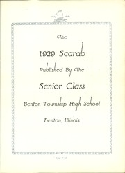 Page 7, 1929 Edition, Benton Township High School - Scarab Yearbook (Benton, IL) online yearbook collection