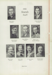 Page 11, 1935 Edition, Benton Township High School - Scarab Yearbook (Benton, IL) online yearbook collection