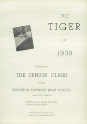 Page 5, 1939 Edition, Princeton High School - Tiger Yearbook (Princeton, IL) online yearbook collection