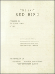Page 5, 1937 Edition, Frankfort Community High School - Red Bird Yearbook (West Frankfort, IL) online yearbook collection