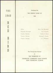 Page 5, 1940 Edition, Frankfort Community High School - Red Bird Yearbook (West Frankfort, IL) online yearbook collection