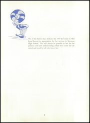 Page 9, 1947 Edition, Kewanee High School - Kewanite Yearbook (Kewanee, IL) online yearbook collection