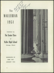 Page 5, 1951 Edition, Waller High School - Wallerian Yearbook (Chicago, IL) online yearbook collection