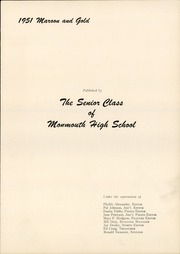 Page 5, 1951 Edition, Monmouth High School - Maroon and Gold Yearbook (Monmouth, IL) online yearbook collection