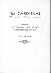 Page 4, 1935 Edition, Dundee Community High School - Cardunal Yearbook (Carpentersville, IL) online yearbook collection