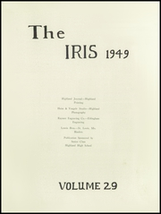 Page 5, 1949 Edition, Highland High School - Iris Yearbook (Highland, IL) online yearbook collection