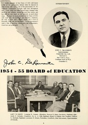 Page 10, 1955 Edition, Highland High School - Iris Yearbook (Highland, IL) online yearbook collection