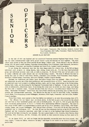 Page 16, 1955 Edition, Highland High School - Iris Yearbook (Highland, IL) online yearbook collection