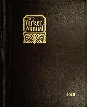 1925 Edition, Parker High School - Parker Pine Yearbook (Chicago, IL)