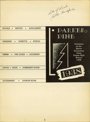 Page 9, 1938 Edition, Parker High School - Parker Pine Yearbook (Chicago, IL) online yearbook collection
