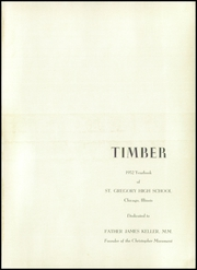 Page 5, 1952 Edition, St Gregory High School - Timber Yearbook (Chicago, IL) online yearbook collection