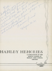 Page 7, 1939 Edition, Manley High School - Memories Yearbook (Chicago, IL) online yearbook collection