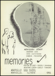 Page 5, 1952 Edition, Monticello High School - Memories Yearbook (Monticello, IL) online yearbook collection